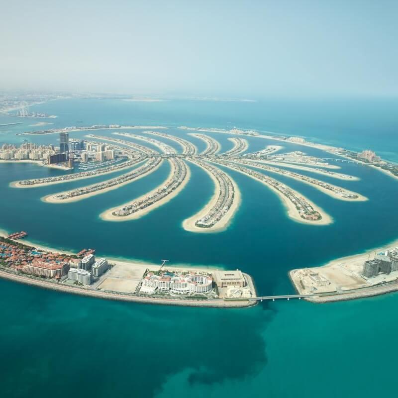Palmový ostrov Dubaj