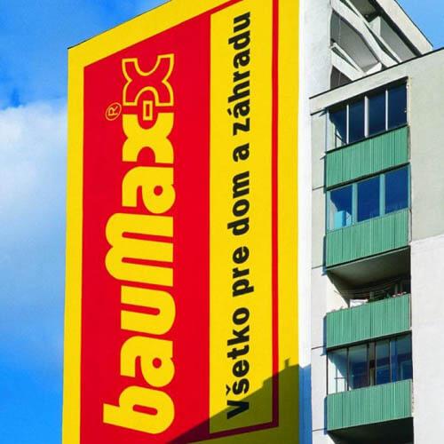 Reklamný náter Baumax Košice